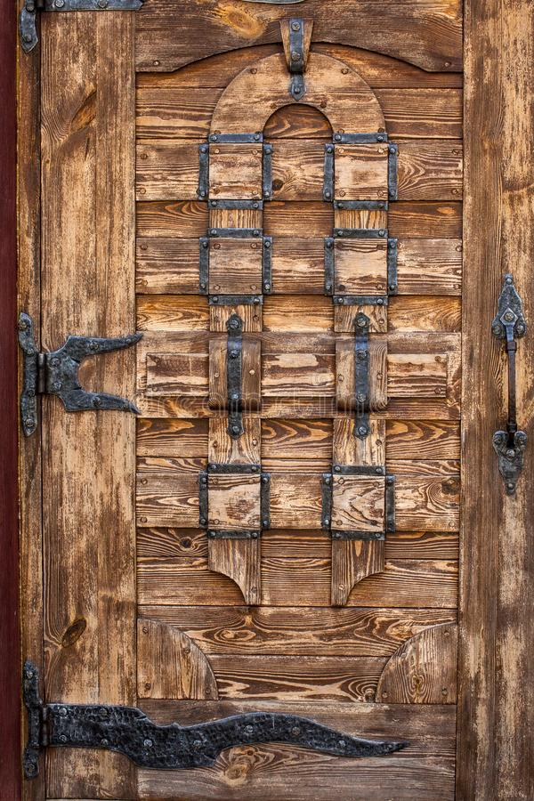 Wooden old vintage dour background. Day light royalty free stock images