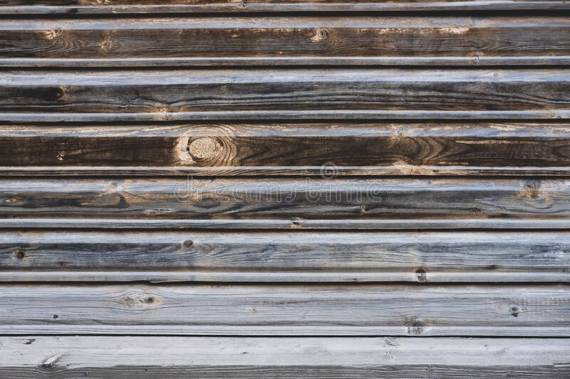 Wooden ombre effect texture background. Old brown,grey and white wall surface. Horizontal wooden boards. Close up with copy space royalty free stock photos