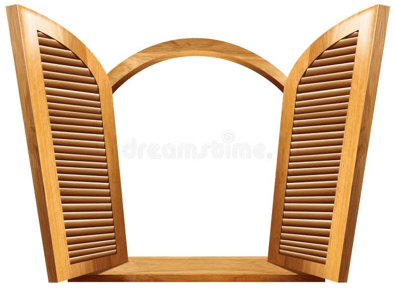 Wooden Open Window vector illustration