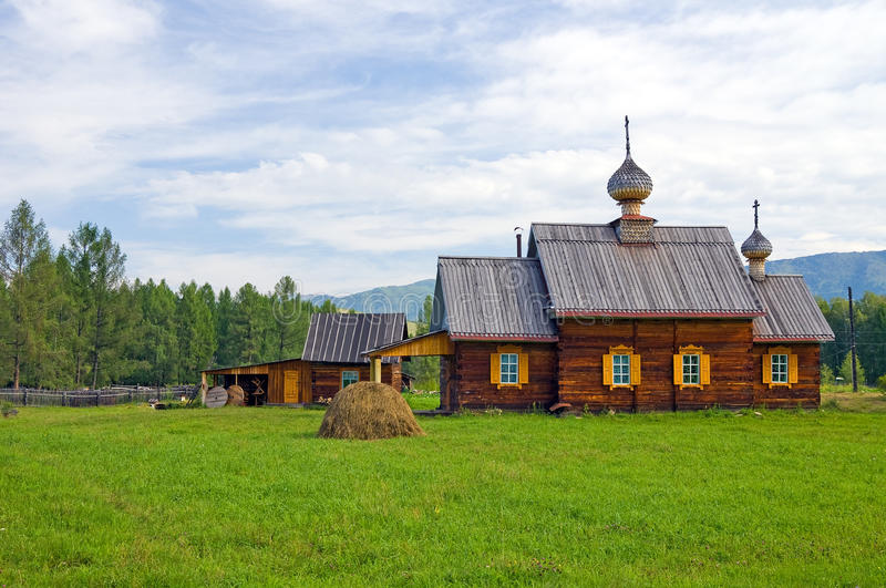 Wooden orthodox church royalty free stock photography
