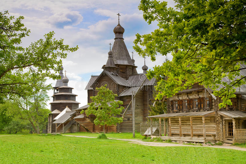 Download Wooden orthodox church stock image. Image of architecture - 14754341