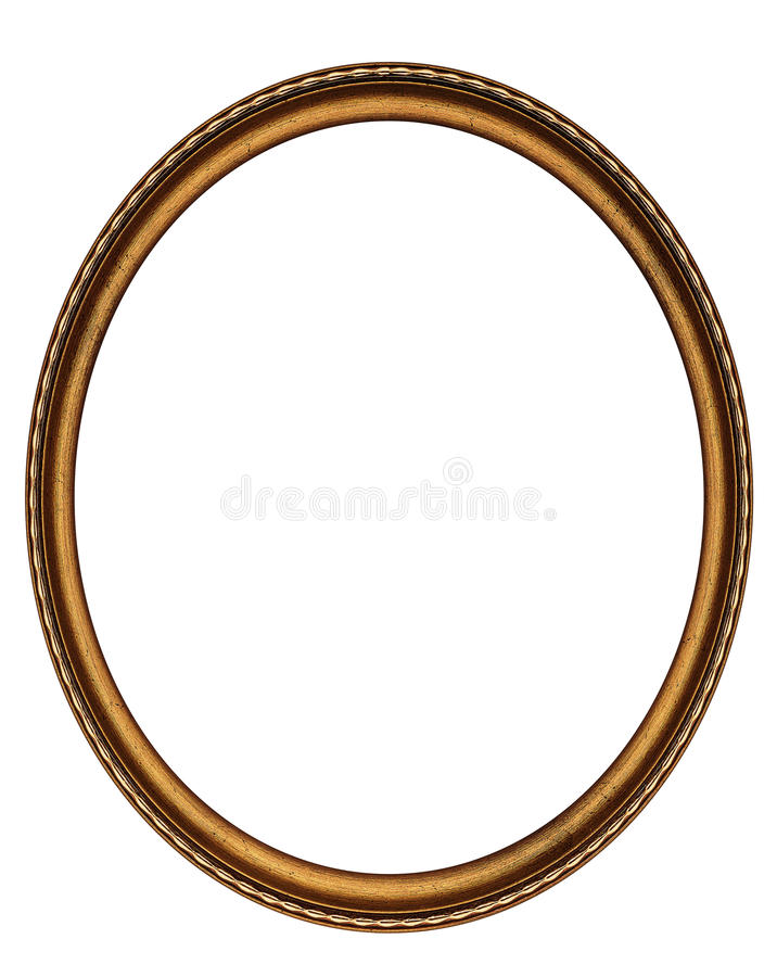 Wooden oval frame stock photos