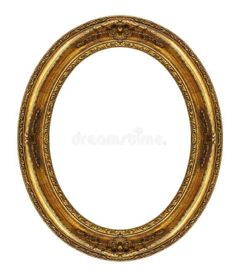 Oval Frame Isolated On White Stock Image - Image of ovoid, photo ...
