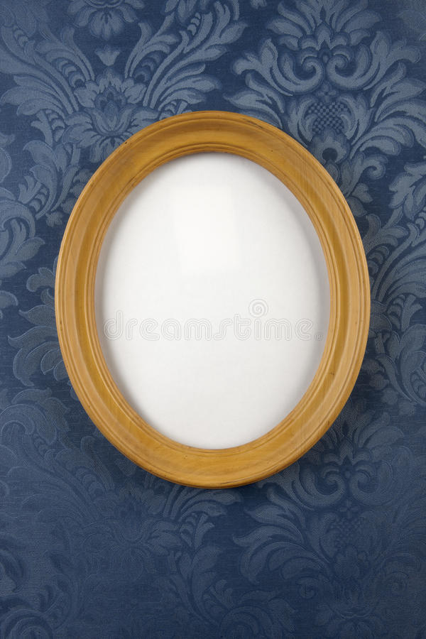 Download Wooden oval wall frame stock photo. Image of paper, wood - 14395366