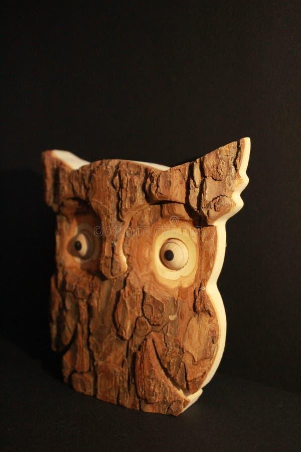 Wooden owl stock photos