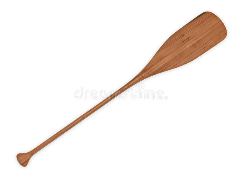 Wooden paddle. On white background royalty free stock photography
