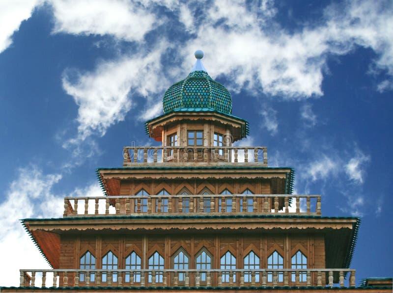 The wooden palace of Tsar Alexei Mikhailovich stock photography