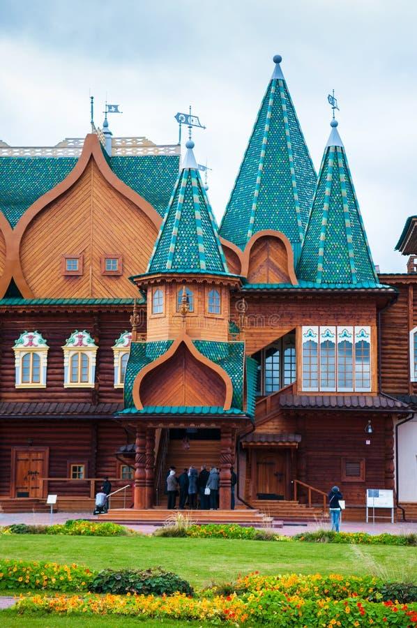 Wooden Palace of Tsar Alexei Mikhailovich Moscow royalty free stock photo