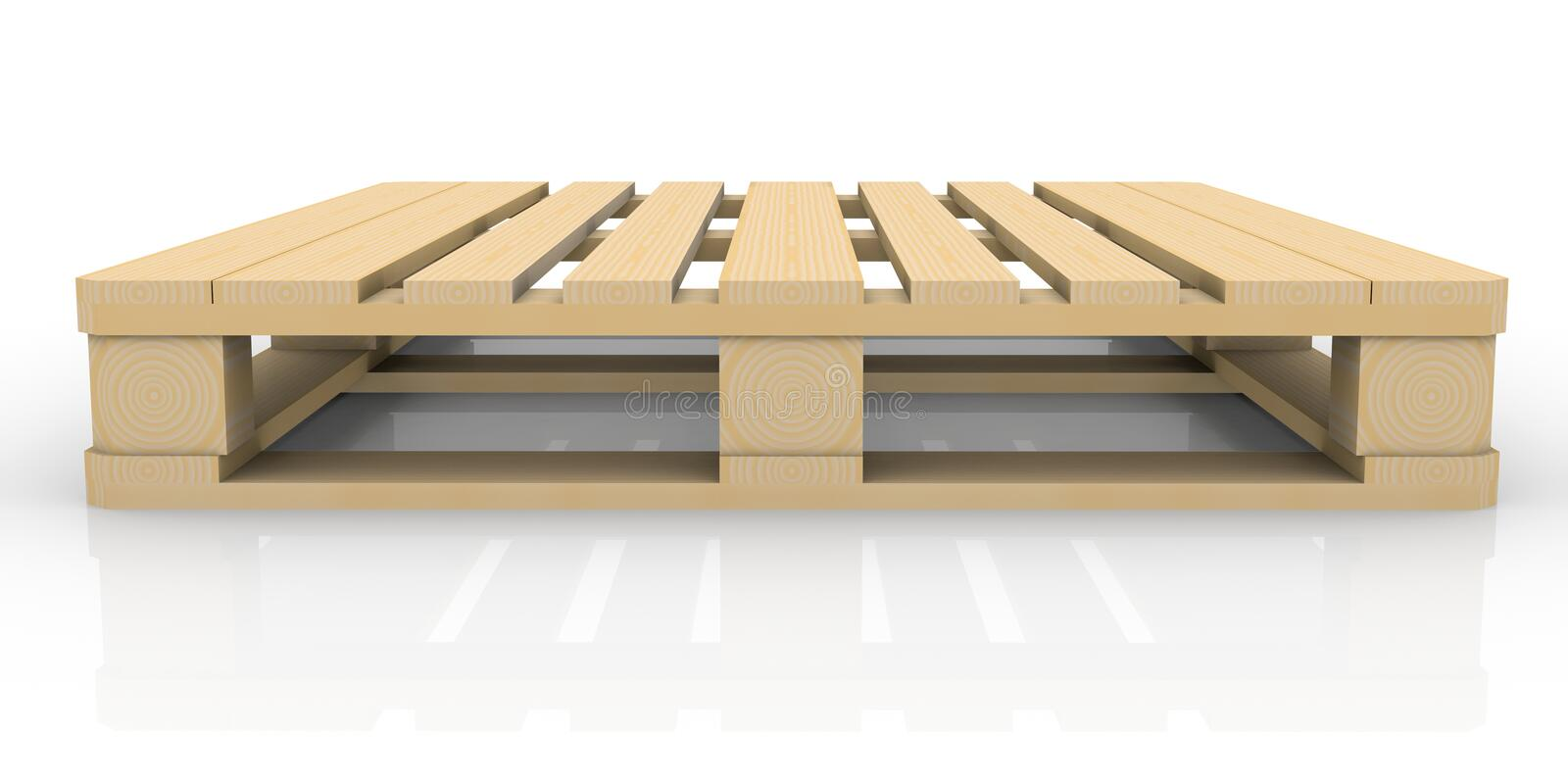 Wooden pallet royalty free illustration