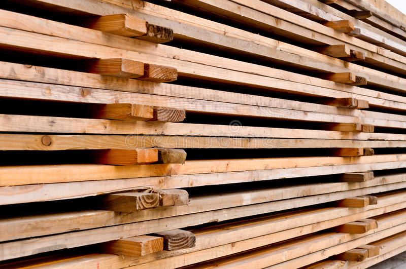 Wooden pallets. A stack of the wooden pallets stock photography