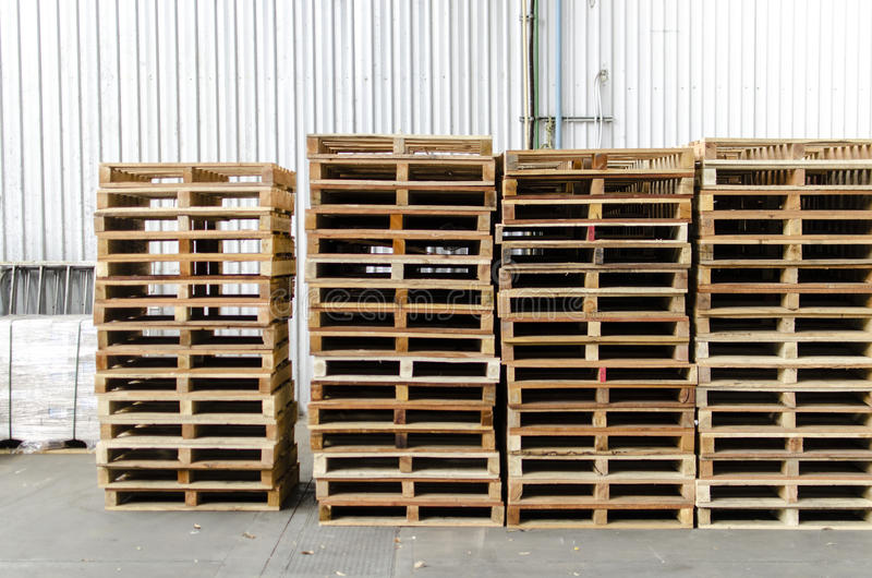 Wooden Pallets In Warehouse Royalty Free Stock Photos ...