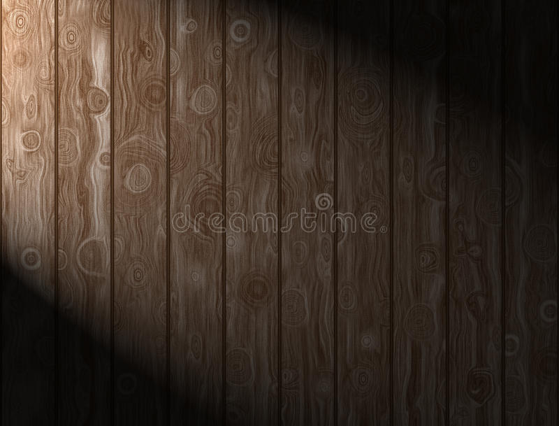 Wooden Panels. Illuminated wooden panels background and texture for print or web usage royalty free stock photography