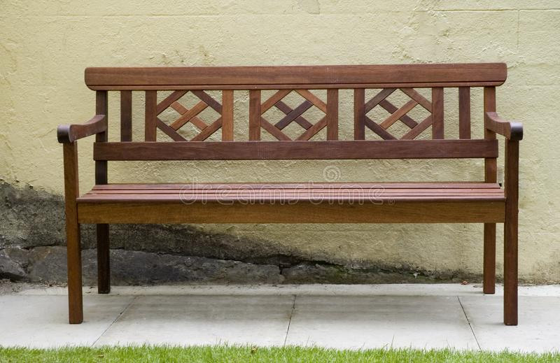 Wooden Park bench royalty free stock image