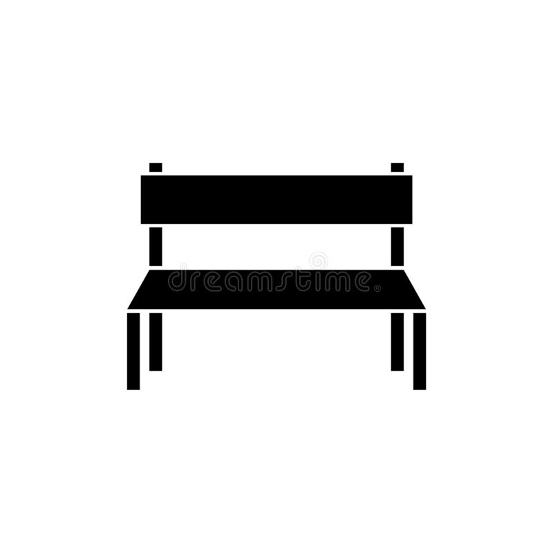 Free Wooden Park Bench Icon Or Logo Stock Photography - 138383952