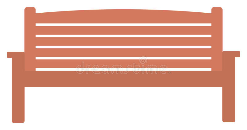 Wooden park bench stock illustration