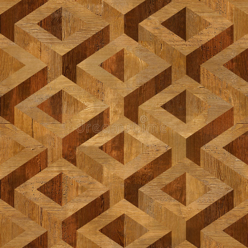 Wooden parquet boxes stacked for seamless background. stock photography