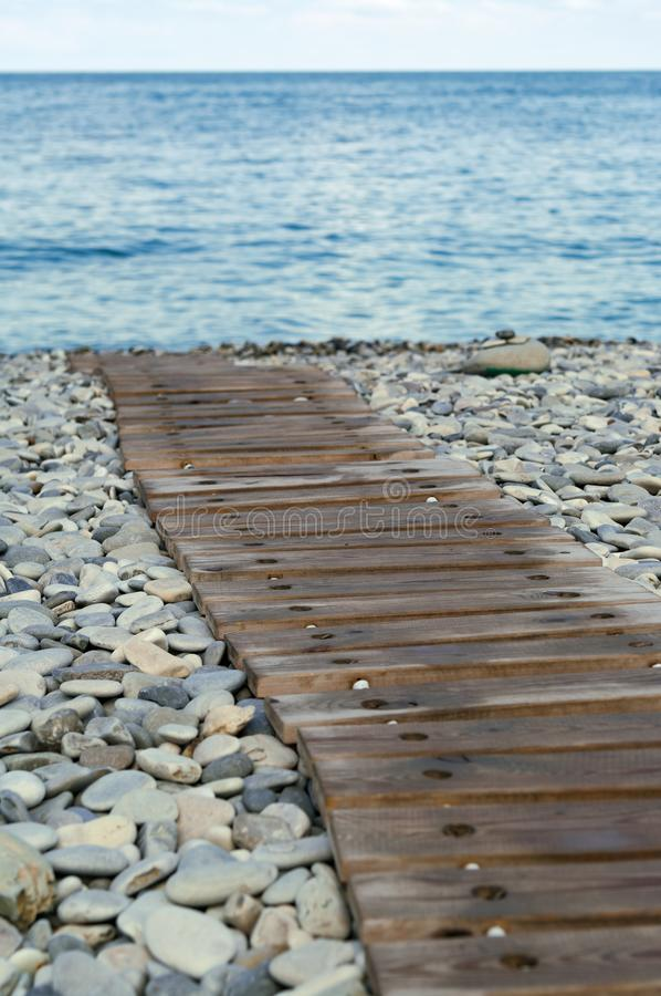 Wooden path to the beach. royalty free stock photos