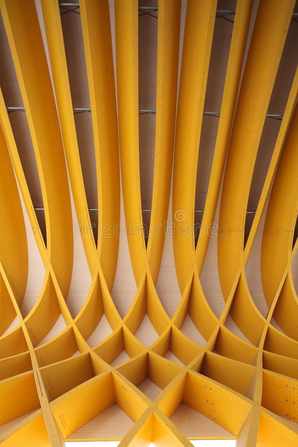 Wooden Pattern. An abstract pattern formed by a wooden structure royalty free stock photo