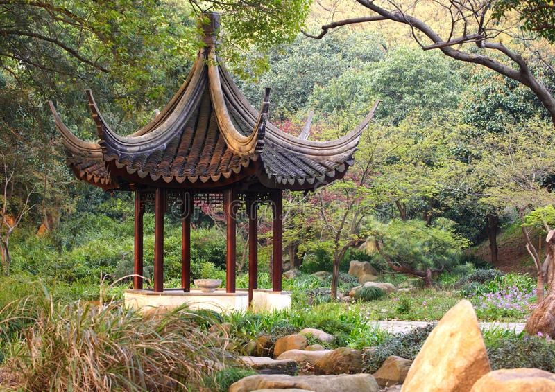 Download Wooden Pavilion In The Chinese Garden. Tiger Hill, Suzhou, China. Stock Image - Image of asia, park: 102614817