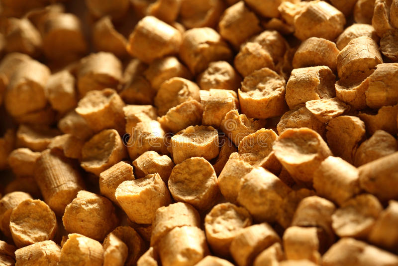 Wooden pellets stock image