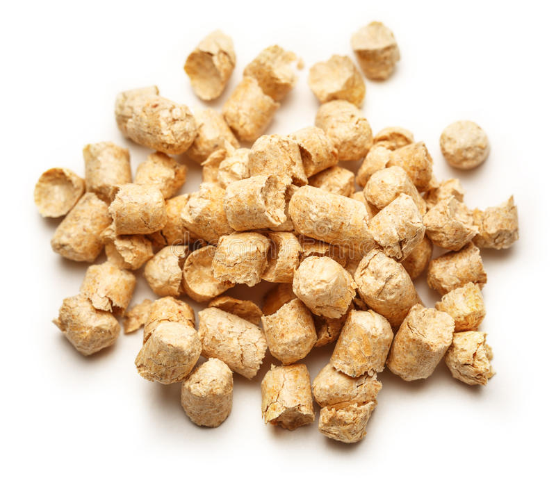 Wooden pellets for cat's toilet royalty free stock photo