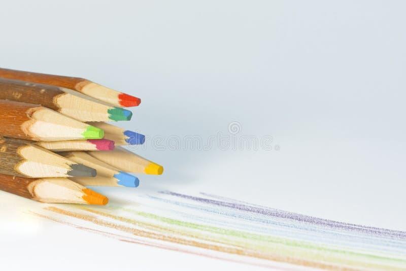 Wooden pencils stock photo