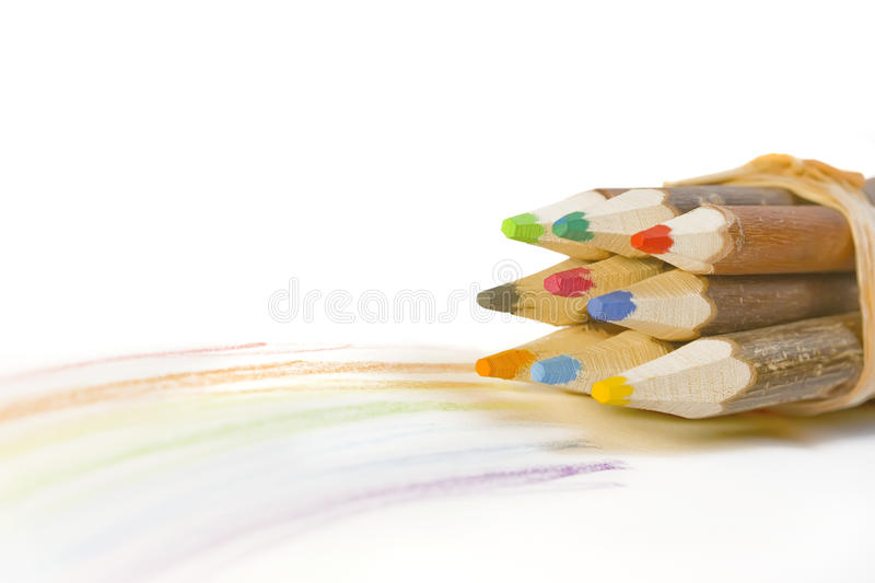 Download Wooden pencils stock photo. Image of path, drawing, rainbow - 11655554