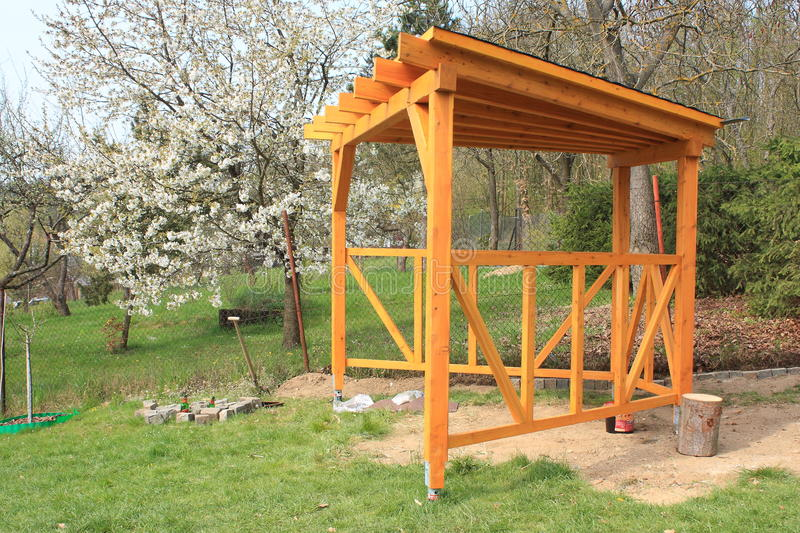Download Wooden pergola stock photo. Image of detail, construction - 39513890