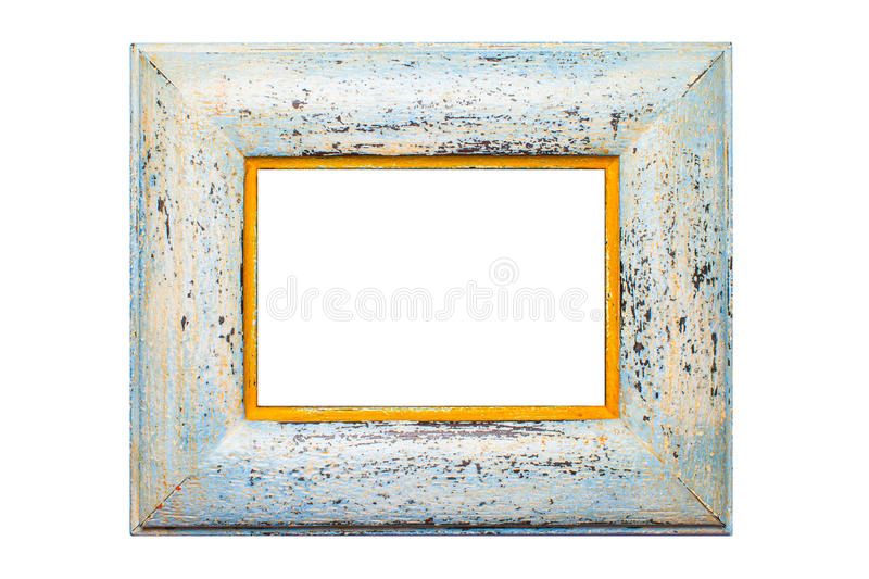 Wooden photo frame, isolated stock images