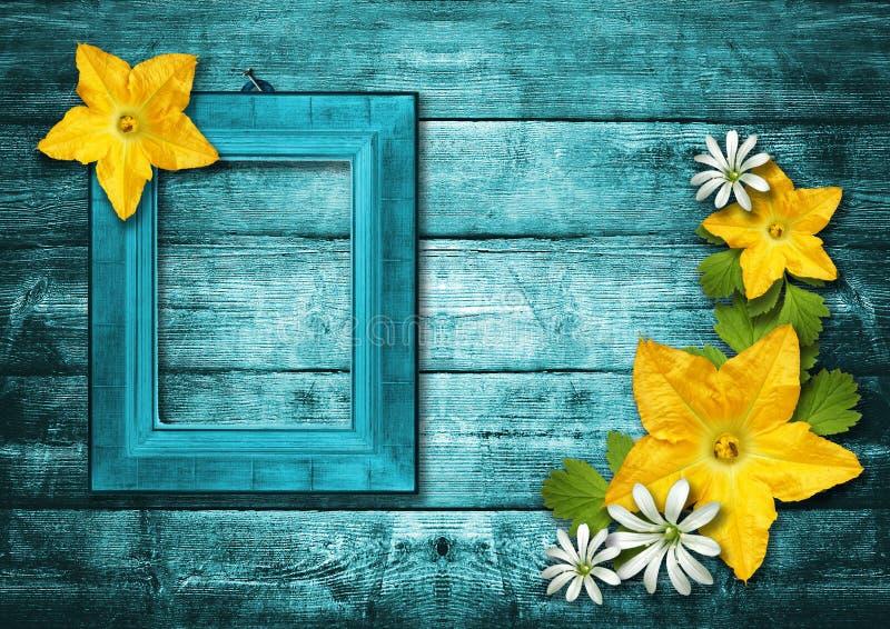 Download Wooden Photo Frame Over Grunge Wood Background Stock Images - Image: 20886744