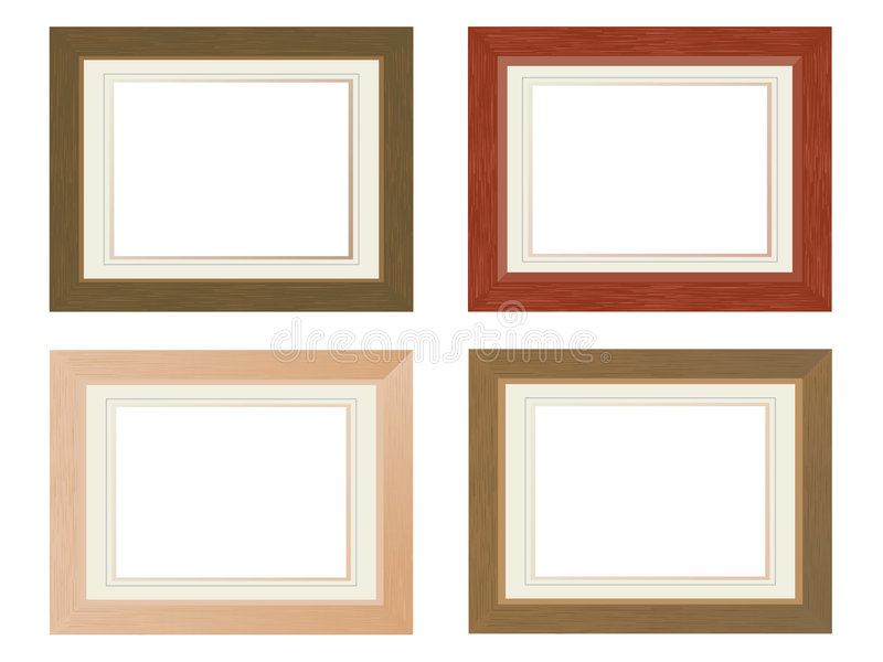 Wooden photo frames royalty free illustration