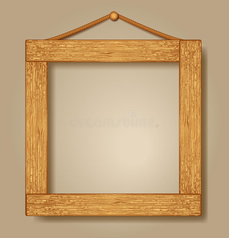 Wooden photo frames vector illustration