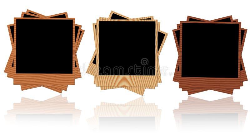 Wooden photo frames royalty free stock photos