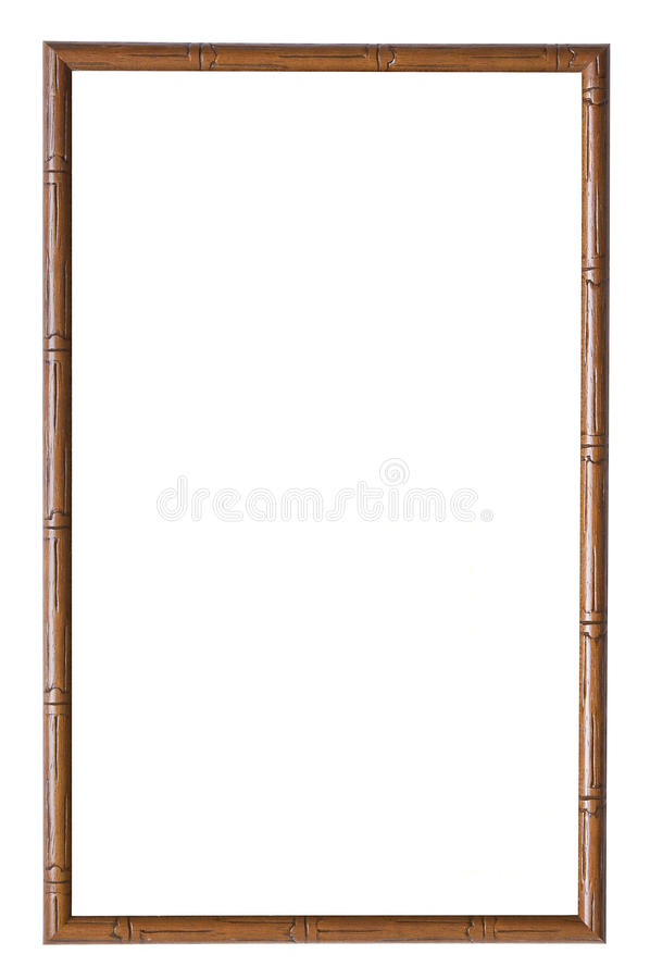 Wooden picture frame royalty free stock photography