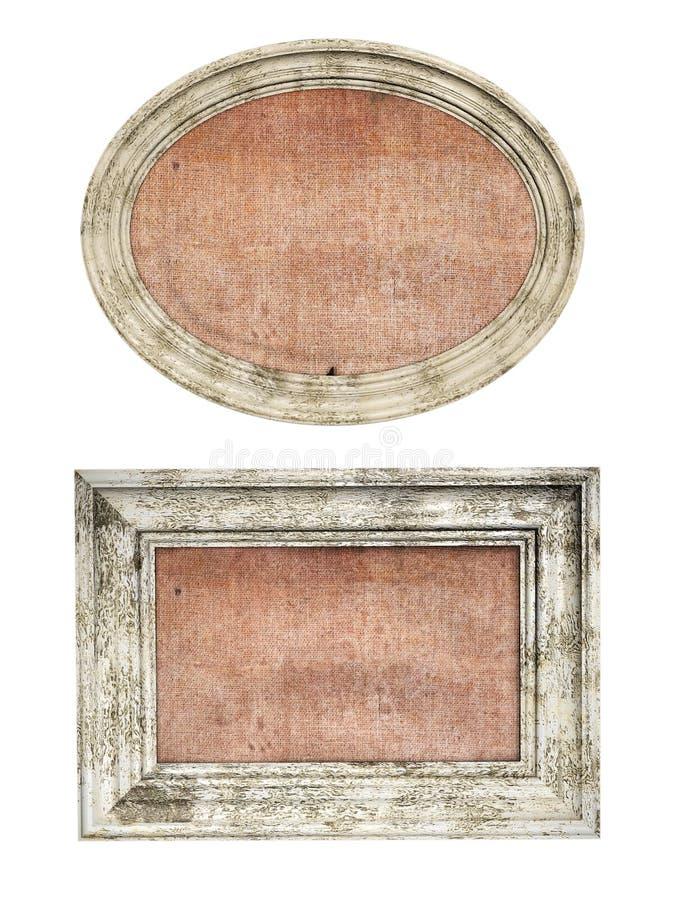 Wooden picture frame stock illustration