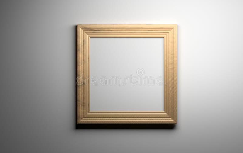 Wooden picture frame vector illustration