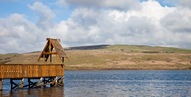 Download Wooden Pier stock image. Image of blue, gazebo, ornate - 12800903