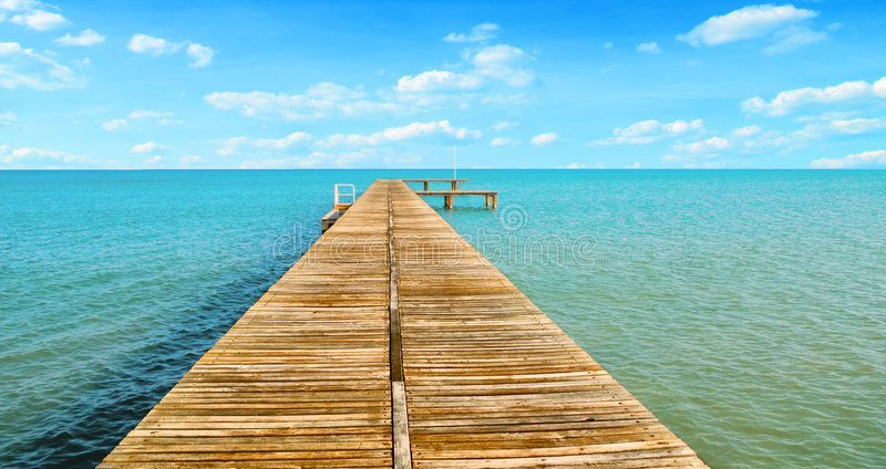 Download Wooden pier stock photo. Image of harbour, jetty, blue - 8349528