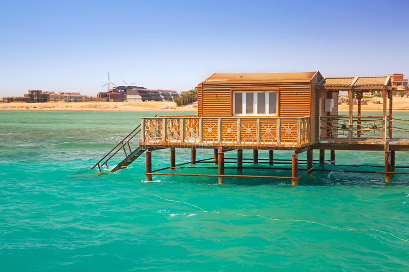 Download Wooden Pier With Change Room House On Red Sea Stock Photo - Image: 30835704
