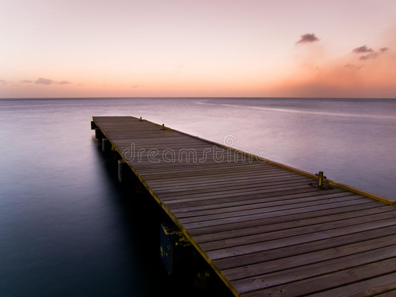 Download Wooden pier at twilight stock photo. Image of path, peace - 18482328