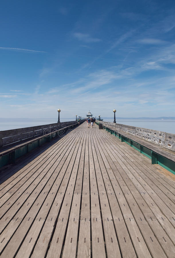 Wooden Pier Walkway, Clevedon. royalty free stock image