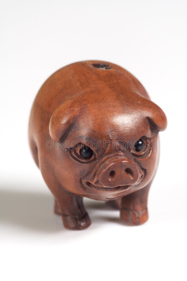 Free Wooden Pig Ojime Royalty Free Stock Images - 2004749