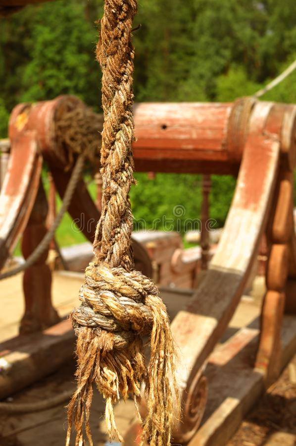 Piracy wooden ship stock photo