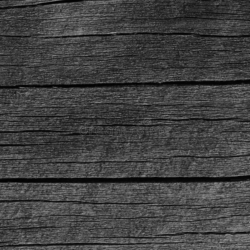 Wooden Plank Board Grey Black Wood Tar Paint Texture Detail, Large Old Aged Dark Gray Detailed Cracked Timber Rustic Macro Closeup. Pattern, Blank Empty stock photography