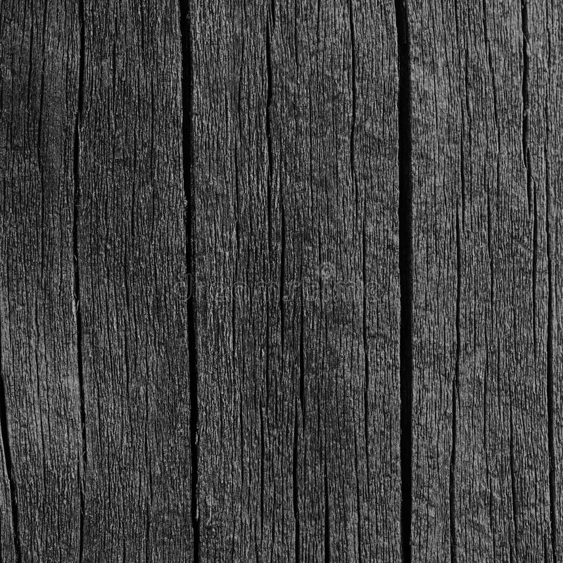 Wooden Plank Board Grey Black Wood Tar Paint Texture Detail, Large Old Aged Dark Gray Detailed Cracked Timber Rustic Macro Closeup. Pattern, Blank Empty stock photos