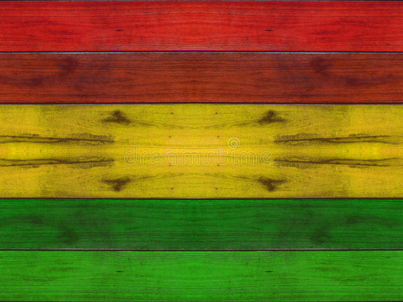 Wooden plank with reggae background stock image