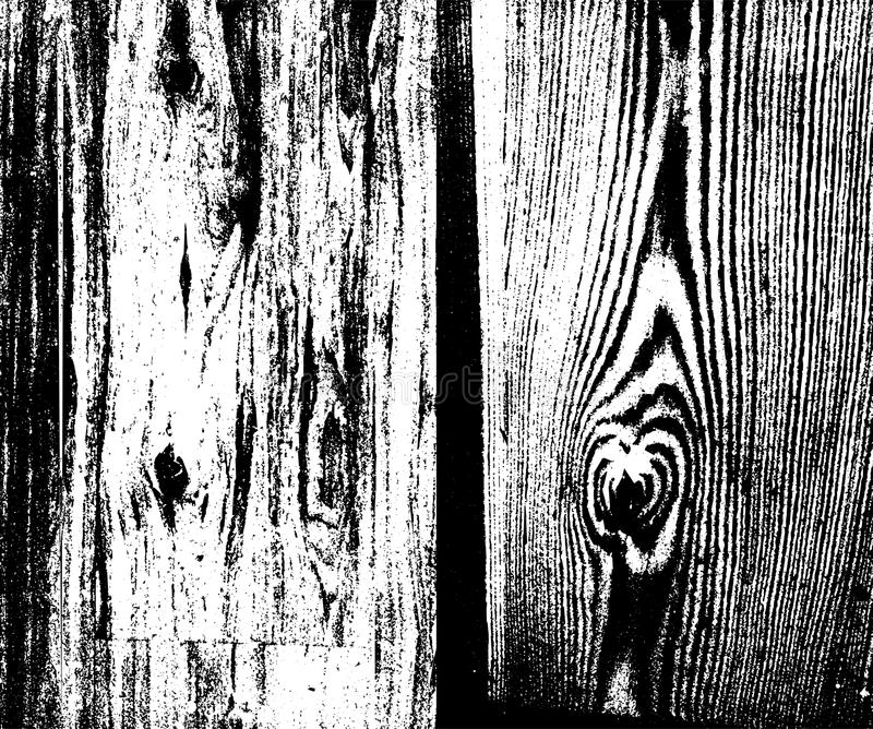 Wooden Planks distress overlay texture for your design. Vectorset. Wooden Planks distress overlay texture for your design. vector grunge texture background royalty free illustration