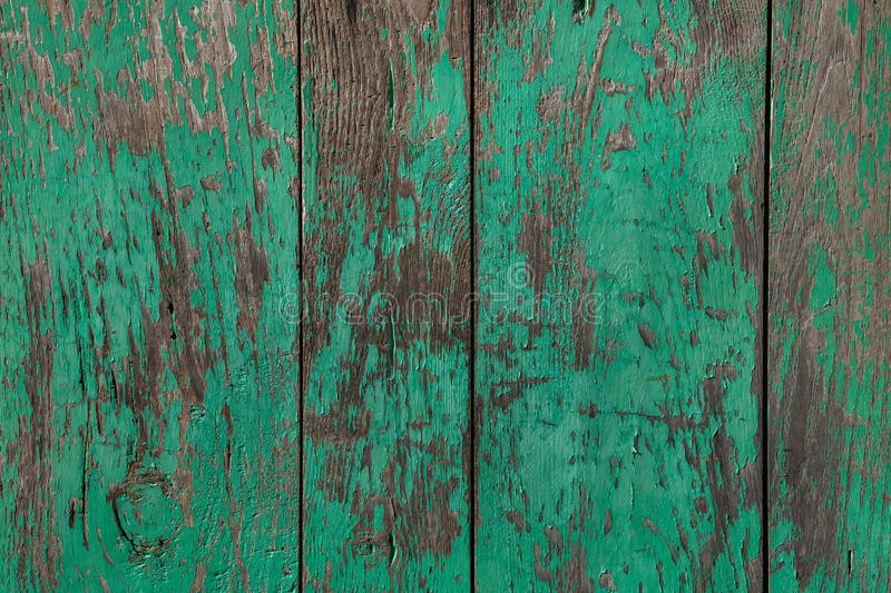 Wooden planks painted green. royalty free stock photos