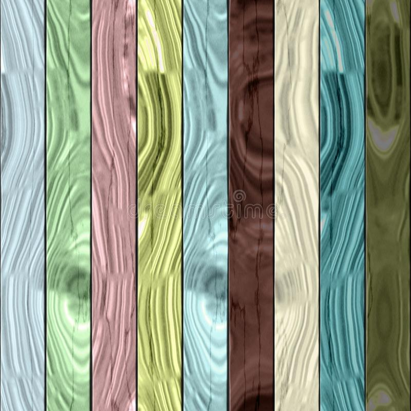 Wooden planks texture - Seamless colorful digitally rendered fractal pattern. Wooden planks painted with pastel shades - Seamless colorful digitally rendered stock illustration