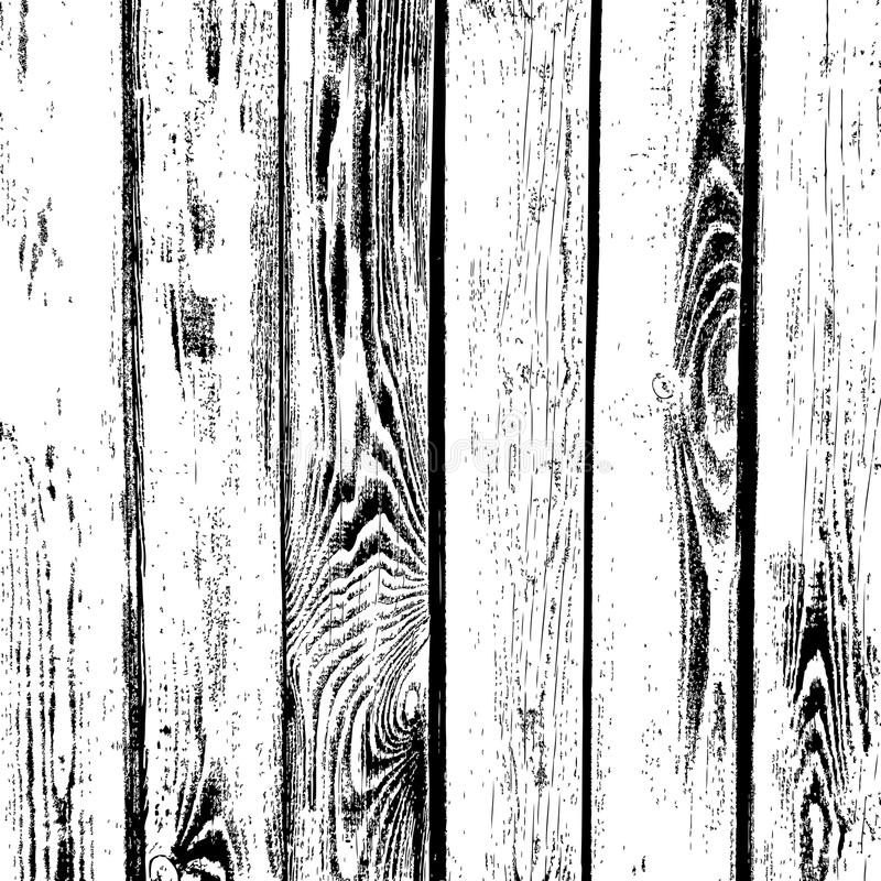 Wooden planks vector texture. Old wood grain textured background royalty free illustration